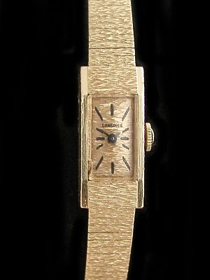 » Vintage Watches: » #4350 Las Solid 14K gold Omega bracelet