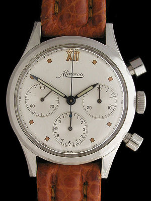 rare minerva chronograph watch