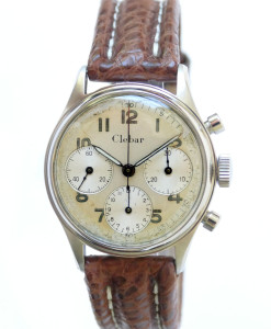 Clebar Vintage Stainless Steel Chronograph with Valjoux 72 Movement