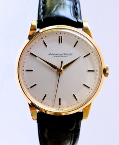 Vintage IWC Solid Gold Men's Dress Watch